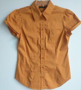New York & Company Short Sleeve Blouse, Size S